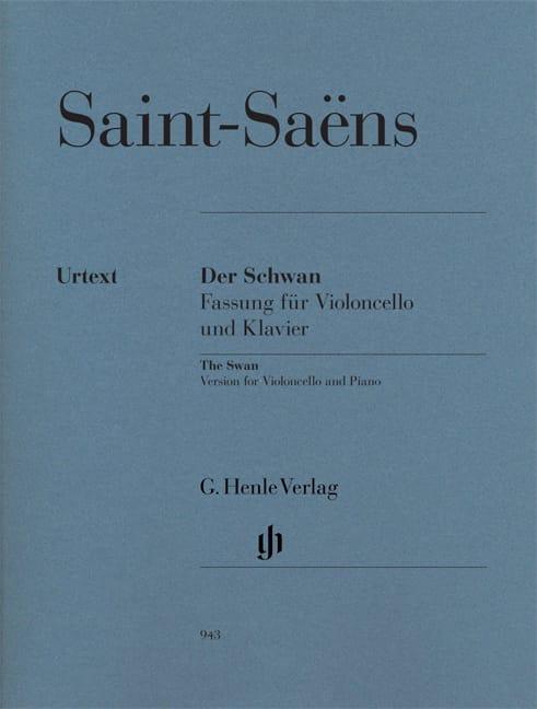 Le Cygne - SAINT-SAËNS - Partition - Violoncelle - laflutedepan.com