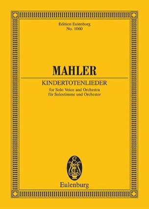 Kindertotenlieder - Partitur MAHLER Partition laflutedepan
