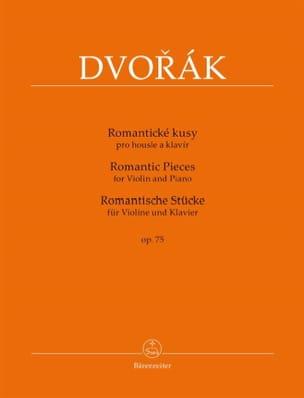 Pièces Romantiques, opus 75 DVORAK Partition Violon - laflutedepan