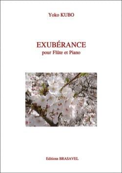 Exubérance Yoko Kubo Partition Flûte traversière - laflutedepan