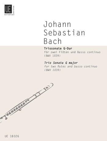Triosonate G-Dur BWV 1039 - 2 Flöten Bc - BACH - laflutedepan.com