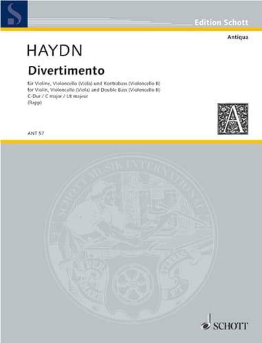 Divertimento C-Dur -Stimmen - Michael HAYDN - laflutedepan.com