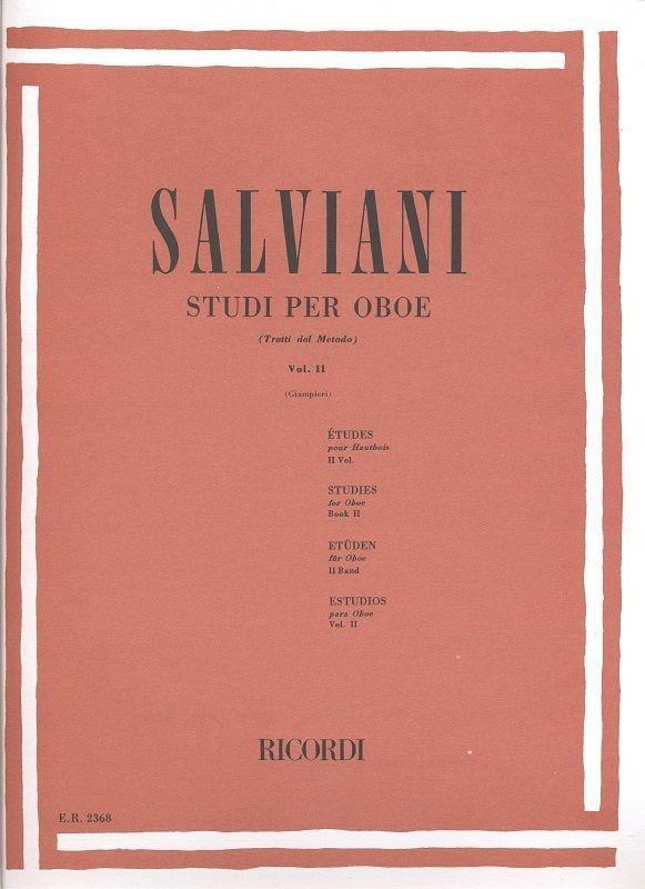 Studi Per Oboe Volume 2 - Clemente Salviani - laflutedepan.com