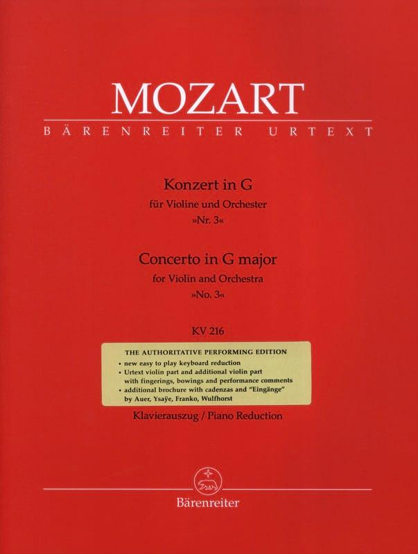 Concerto N° 3 Sol Majeur KV 216 - MOZART - laflutedepan.com