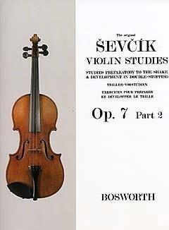 Etudes Opus 7 / Partie 2 - Violon Otakar Sevcik Partition laflutedepan