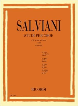Studi per oboe - Volume 3 Clemente Salviani Partition laflutedepan