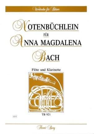 Notenbüchlein für Anna Magdalena Bach - Flöte Klarinette laflutedepan
