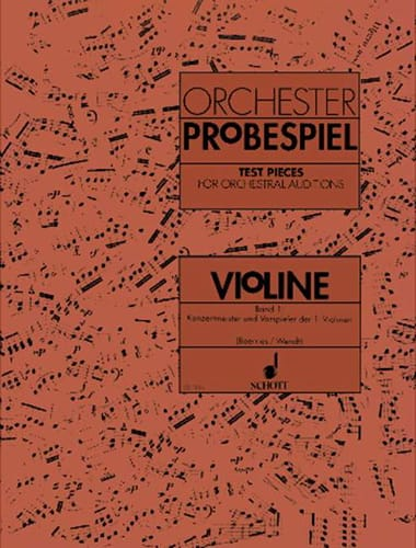 Orchester-Probespiel - Violine Bd. 1 - laflutedepan.com