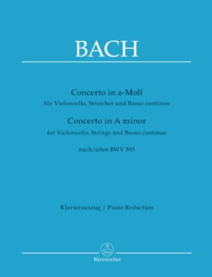 Concerto en la mineur, d'après le BWV 593 - BACH - laflutedepan.com