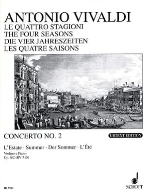 Concerto L'estate op. 8 n° 2 VIVALDI Partition Violon - laflutedepan