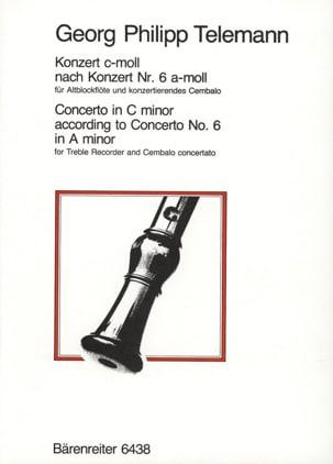 Concerto c-moll -Altblockflöte TELEMANN Partition laflutedepan