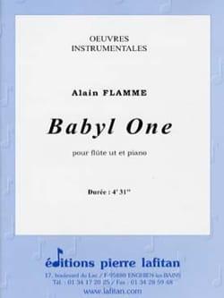 Babyl One Alain Flamme Partition Flûte traversière - laflutedepan