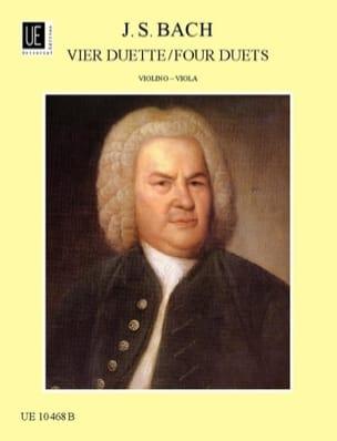4 Duette für Violine und Viola BACH Partition 0 - laflutedepan