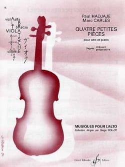4 Petites pièces Hadjaje Paul / Carles Marc Partition laflutedepan