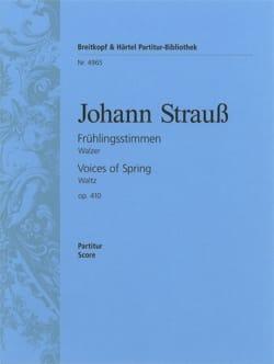 Frühlingsstimmen op. 410 - Partitur Johann (Fils) Strauss laflutedepan