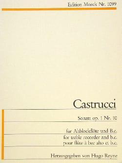 Sonate op. 1 n° 10 - Altblockflöte u. Bc Pietro Castrucci laflutedepan