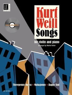 Kurt Weill Songs - Violon piano WEILL Partition Violon - laflutedepan