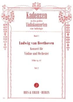 Cadences du Concerto pour Violon en Ré Majeur Opus 61 - Volume 2 laflutedepan