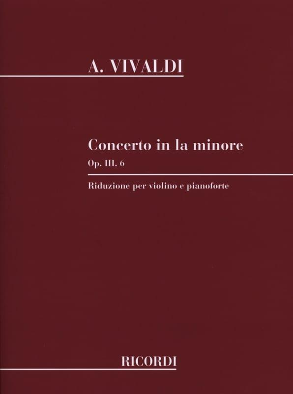 Concerto Violon la mineur op. 3 n° 6 - VIVALDI - laflutedepan.com
