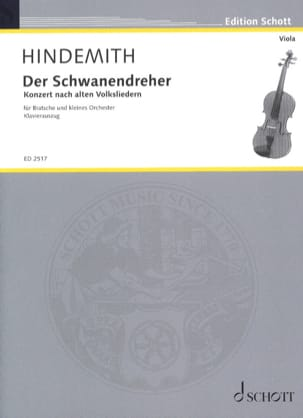 Der Schwanendreher 1935 HINDEMITH Partition Alto - laflutedepan