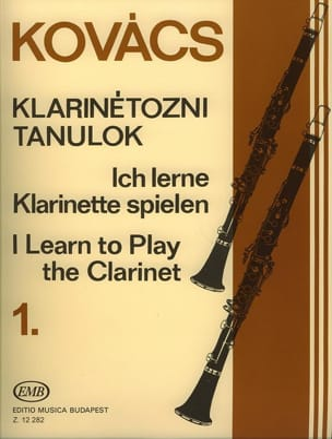 I learn to play the clarinet - Volume 1 Béla Kovacs laflutedepan