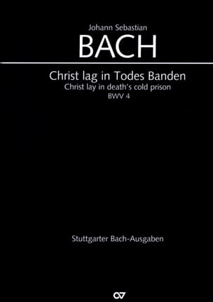 Cantate Christ Lag In Todesbanden BWV 4 BACH Partition laflutedepan