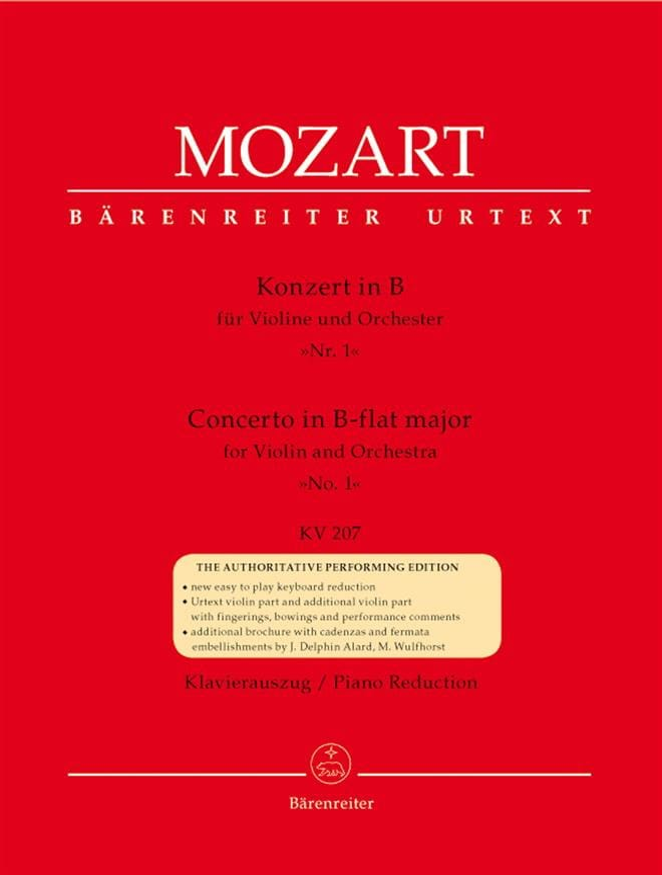 Concerto Violon n° 1 si bémol majeur KV 207 - laflutedepan.com