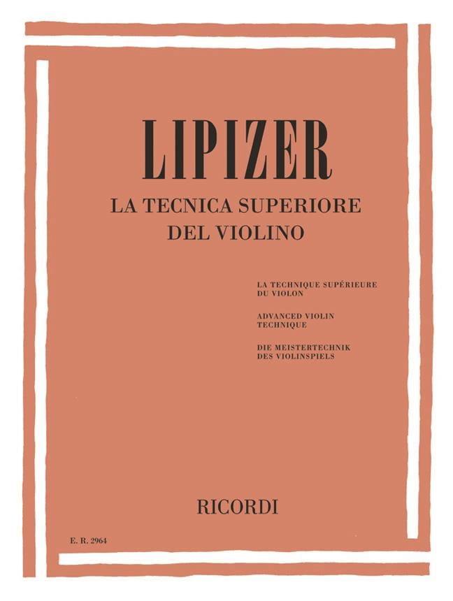 La Tecnica Superiore del Violino - Rodolfo Lipizer - laflutedepan.com