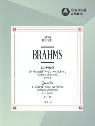 Quintett h-moll op. 115 - Klarinette Viola 2 Violinen Viola Cello - Stimmen laflutedepan