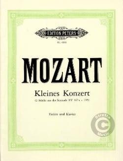 Kleines Konzert MOZART Partition Violon - laflutedepan