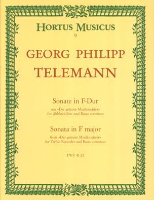 Sonate in F-Dur - Altblockflöte u. Bc TELEMANN Partition laflutedepan