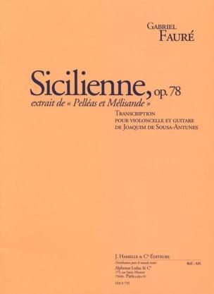 Sicilienne Op. 78 FAURÉ Partition 0 - laflutedepan