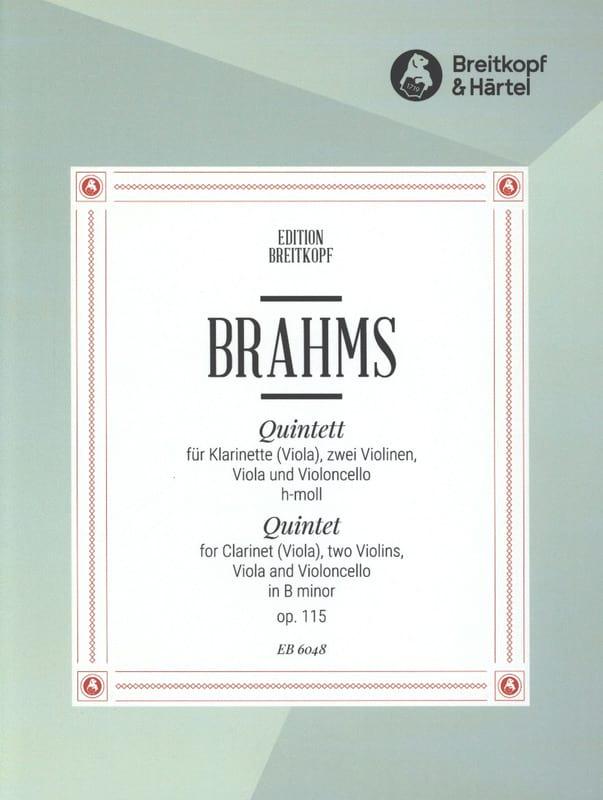 Quintett h-moll op. 115 - Klarinette Viola 2 Violinen Viola Cello - Stimmen - laflutedepan.com