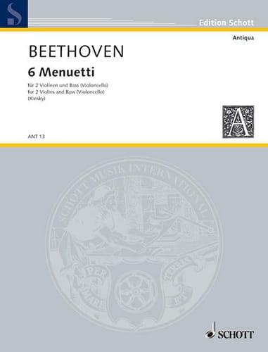 6 Menuetti - 2 Violine und Bass Violoncello - laflutedepan.com