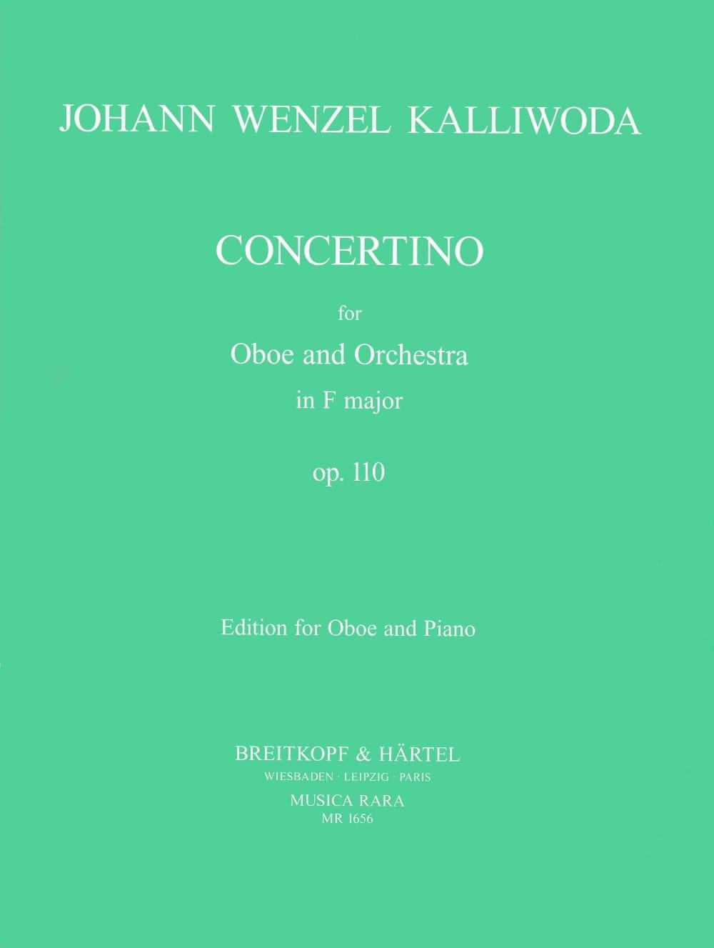 Concertino in F major op. 110 - Oboe piano - laflutedepan.com