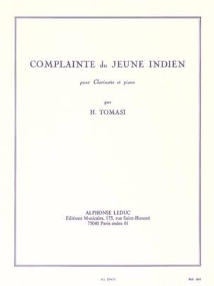 Complainte du Jeune Indien TOMASI Partition Clarinette - laflutedepan