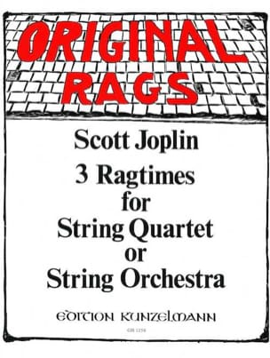 3 Ragtimes for String Quartet or String orch. JOPLIN laflutedepan