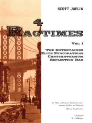 4 Ragtimes - Volume 1 -Flöte Gitarre JOPLIN Partition laflutedepan
