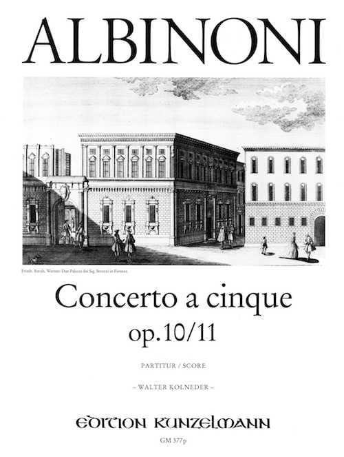 Concerto a cinque op. 10/11 - Conducteur - ALBINONI - laflutedepan.com