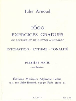 1600 Exercices Gradués Volume 1 Jules Arnoud Partition laflutedepan