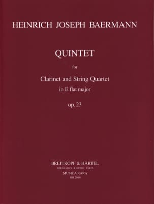 Quintet E flat major op. 23 - Clarinet String quartet - Parts laflutedepan