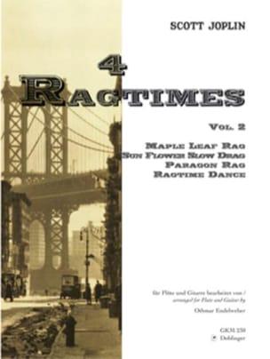 4 Ragtimes - Volume 2 -Flöten Gitarre JOPLIN Partition laflutedepan