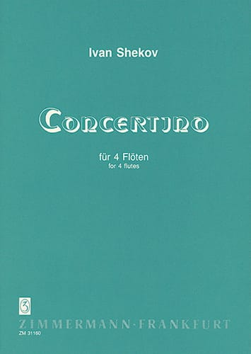 Concertino - 4 Flûtes - Ivan Shekov - Partition - laflutedepan.com