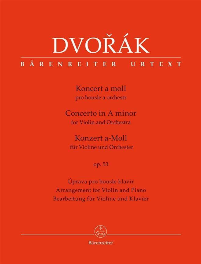 Concerto pour Violon op. 53 - Conducteur - DVORAK - laflutedepan.com