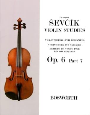 Etudes Opus 6 / Partie 7 - Violon Otakar Sevcik Partition laflutedepan