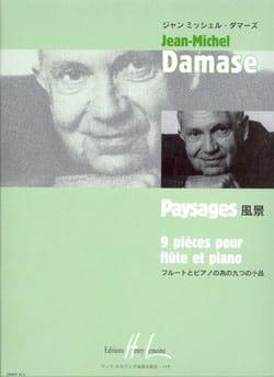 Paysages Jean-Michel Damase Partition Flûte traversière - laflutedepan