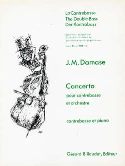 Concerto - Contrebasse Jean-Michel Damase Partition laflutedepan