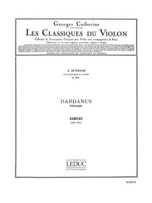 Rigaudon de Dardanus - RAMEAU - Partition - Violon - laflutedepan.com