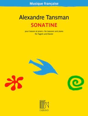 Sonatine pour basson et piano Alexandre Tansman Partition laflutedepan