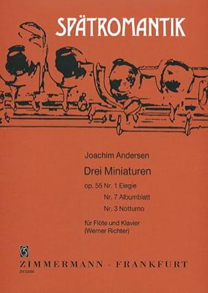 3 Miniaturen op. 55 n° 1, 3, 7 ANDERSEN Partition laflutedepan